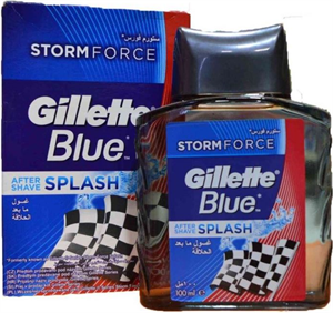 Gillette Blue After Shave Splash Storm Force