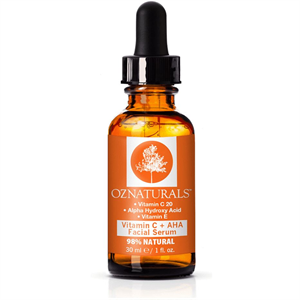 OZ Naturals Vitamin C + AHA Facial Serum