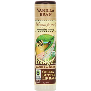 Badger Balm Vanilla Bean Cocoa Butter Lip Balm