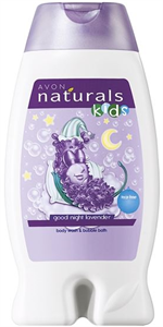 Avon Naturals Kids Könnymentes Levendula Tusfürdő és Habfürdő