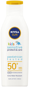 Nivea Sun Kids Sensitive Protect&Care Naptej FF50+