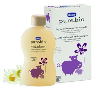 Chicco Pure.Bio Fürdető & Sampon Kamilla Vízzel