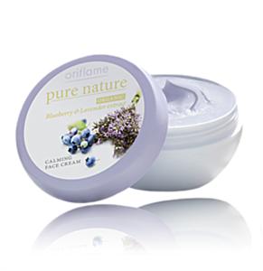 Oriflame Pure Nature Nyugtató Hatású Arckrém Feketeáfonya- és Levendulakivonattal