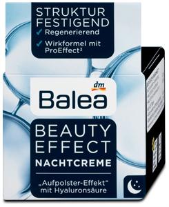 Balea Beauty Effect Regeneráló Éjszakai Arckrém Hialuronsavval