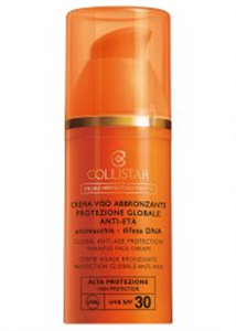 Collistar Global Anti-Age Protection Tanning Face Cream SPF30