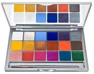 Kryolan Shimmering Vision Palette 18 Colors
