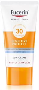 EucerinSun Sensitive Protect Védőkrém az Egész Arcra SPF30