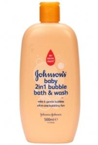 Johnson's Baby 2in1 Buborékos Habfürdő és Tusfurdő