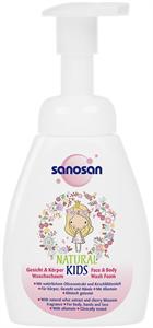 Sanosan Natural Kids Face & Body Wash Foam