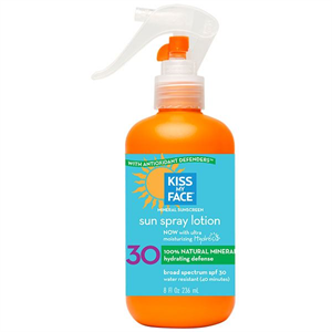 Kiss My Face Natural Mineral Spray Lotion SPF30