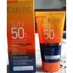 Eveline Sun Napvédő Arckrém Érzékeny és Allergiára Hajlamos Bőrre SPF50