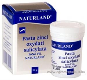 Naturland Szaliciles Cinkpaszta - Pasta zinci oxydati salicylata FoNo VII.