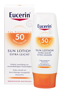 Eucerin Sun Extra Könnyű Naptej SPF50