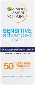 Garnier Ambre Solaire Sensitive Advanced UV Face Protection Cream 50+