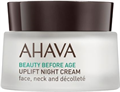 Ahava Uplift Night Cream Face Neck And Décolleté Éjszakai Krém Arcra, Nyakra, Dekoltázsra