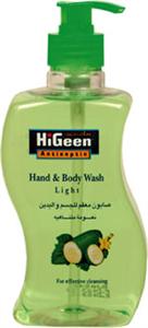 HiGeen Antiseptic Hand & Body Wash - Green Tea & Cucumber