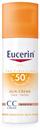 Eucerin Sun Színezett Napozó Krém Arcra Ff50+