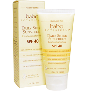 Babo Botanicals Daily Sheer Facial Sunscreen SPF40