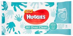 Huggies All Over Clean Nedves Törlőkendő
