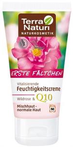 Terra Naturi Erste Fältchen Vitalisierende Feuchtigkeitscreme Wildrose & Q10
