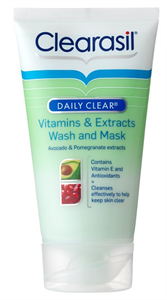 Clearasil Daily Clear Vitamins & Extracts Wash and Mask