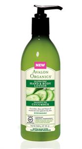 Avalon Organics Uborka Gluténmentes Testápoló