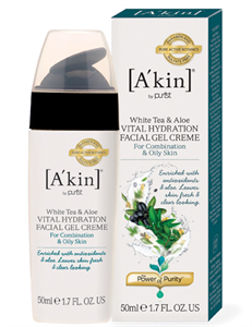 A'kin White Tea & Aloe Vital Hydration Facial Gel Creme