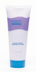Avon Foot Works Levendulás Exfoliáló Agyagmaszk
