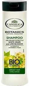 L'Angelica Botanics Fehér Szőlő és Hársfavirág Sampon Zsíros Hajra