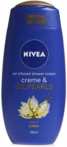 Nivea Creme & Oil Pearls Shower Cream - Lotus