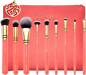 Zoeva Coral Shine Brush Set