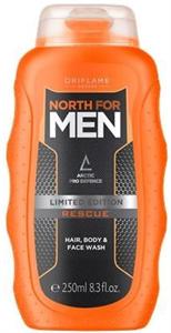 Oriflame North For Men Rescue Sampon, Tusfürdő, Arclemosó 3 az 1-ben