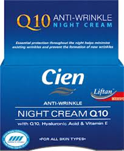 Cien Face Anti-Wrinkle Night Cream Q10