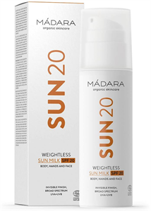 Mádara Weightless Sun Milk SPF20