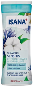Isana Sensitive Shampoo Cotton Flower & Kornblume