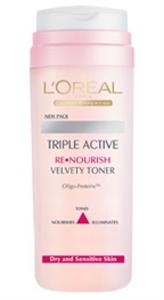 L'Oreal Triple Active Bársonyos Tonik Száraz Bőrre