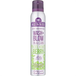 aussie Wash + Blow Kool Kiwi Berry Szárazsampon
