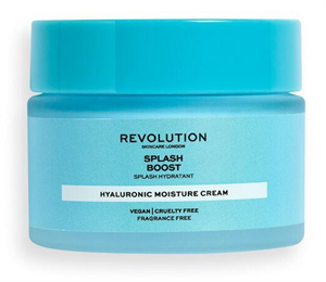 Revolution Skincare Splash Boost Moisture Cream With Hyaluronic Acid Hidratáló Krém