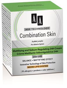 AA Age Technology Combination Skin Mattító és Faggyútermelést Szabályozó 24H Arckrém UVA/UVB