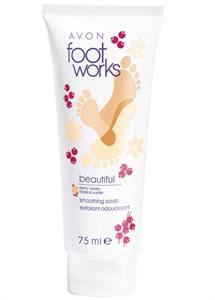 Avon Foot Works Bogyós Gyümölcsök és Vanília Bőrsimító Lábradír