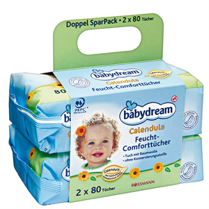 Babydream Calendula Nedves Törlőkendő