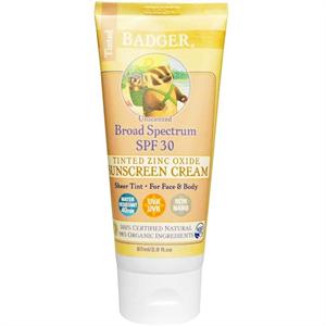Badger Balm Tinted Zinc Oxide Sunscreen Cream SPF30