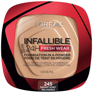 L'Oreal Paris Infallible Up To 24Hr Fresh Wear Foundation In a Powder, Matte Finish