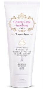 Missha Creamy Strawberry Latte Cleansing Foam
