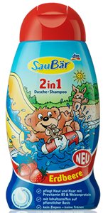 Saubär 2in1 Tusfürdő És Sampon Eper Illattal