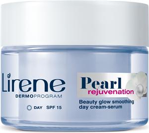 Lirene Pearl Rejuvenation Bőrsimító Nappali Krém-Szérum