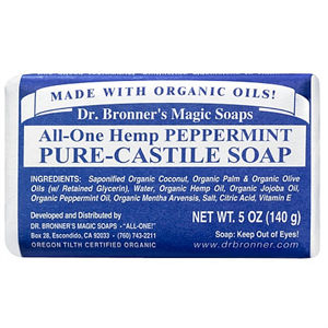 Dr Bronner's Magic Soaps All-One Hemp Peppermint Pure-Castile Soap