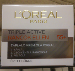 L'Oreal Triple Active Ráncok Ellen Tápláló Krém Olajokkal 55+