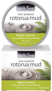 Wild Ferns Rotorua Iszap Éjszakai Krém Levendulával és Golgotavirággal