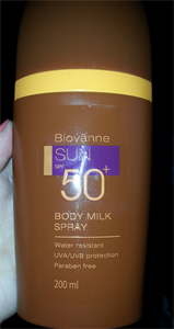 Biovanne Sun Spf 50+ Body Milk Spray